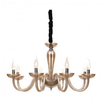 полилей lunaria, cognac+chrome+black, aca lighting, 8xE14, blk82188pcnc