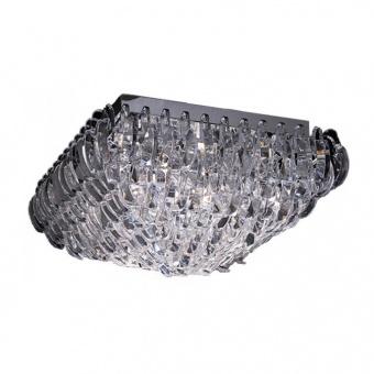 плафон vica, chrome+clear, aca lighting, 4xE14, vica404c