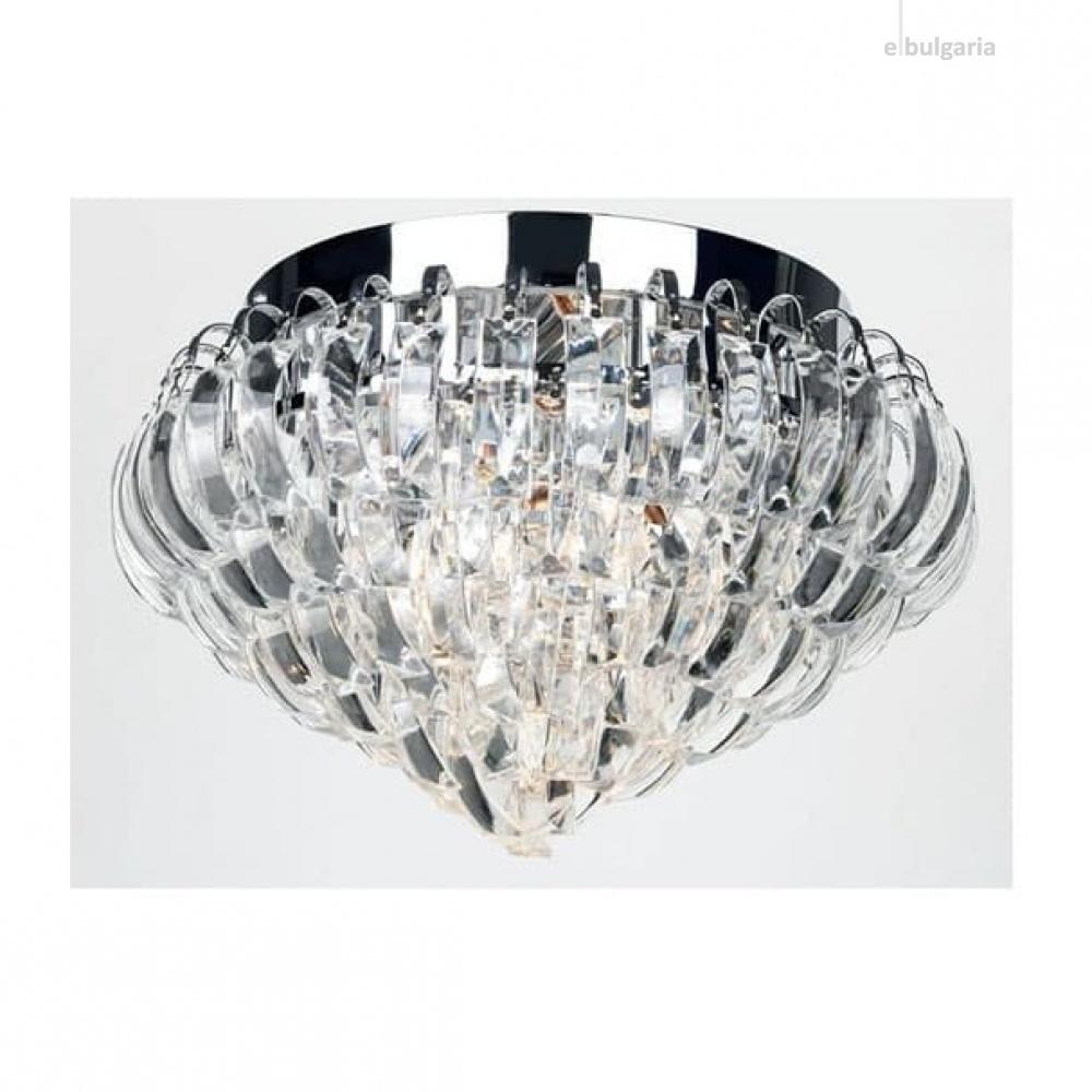 плафон vica, chrome+clear, aca lighting, 3xE14, vica353c