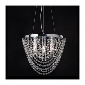 полилей missy, chrome+clear, aca lighting, 4xE14, missy404p
