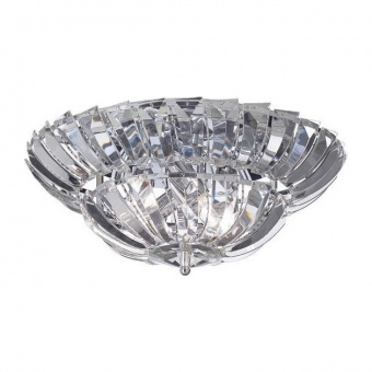 плафон luca, chrome+clear, aca lighting, 4xE14, luca454c