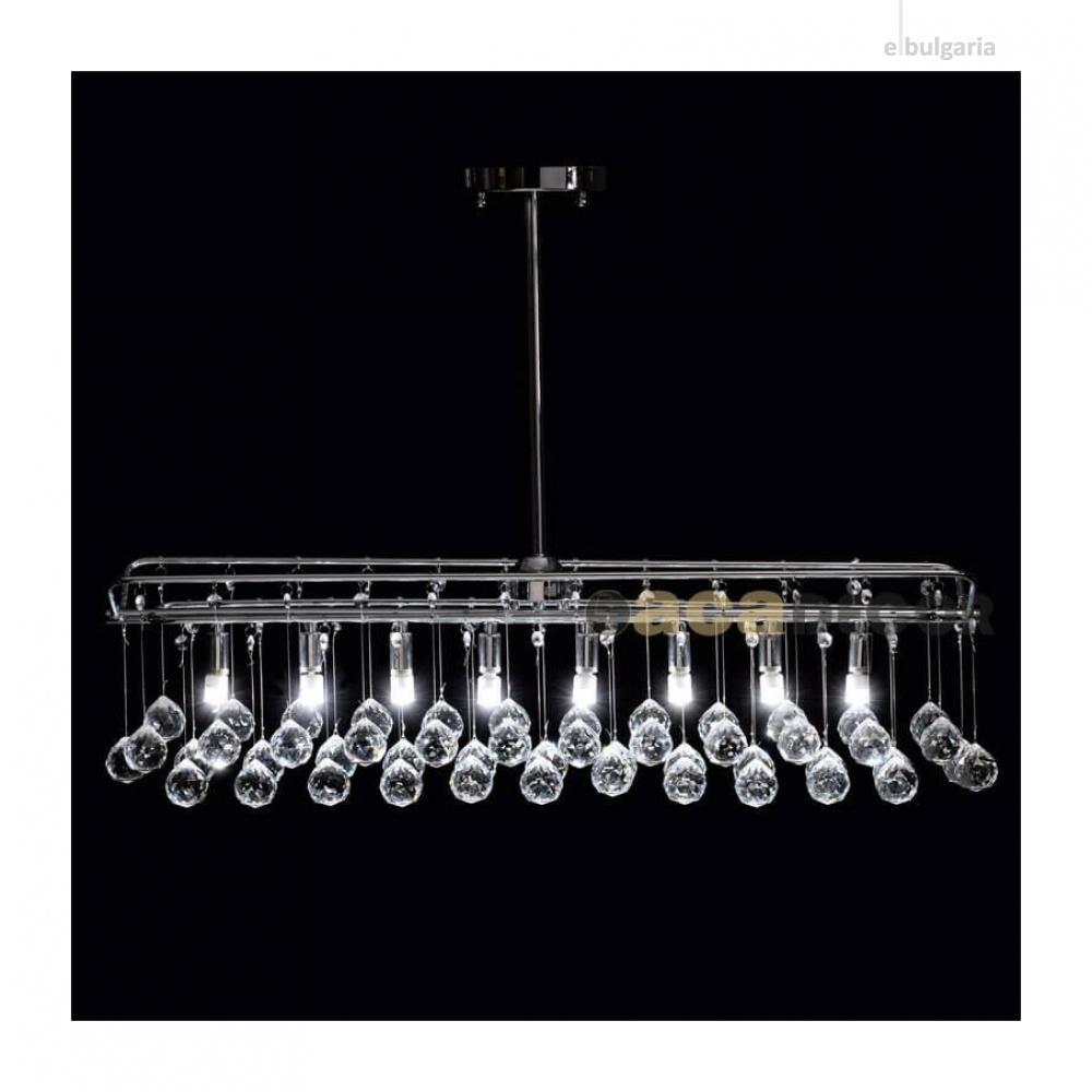 полилей patricia, chrome+clear, aca lighting, 8xG9, w16213tr