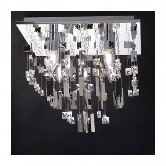 плафон somer, chrome+clear, aca lighting, 4xE14, somer404c