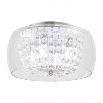 плафон yvonne, chrome+clear, aca lighting, 4xG9, fw5044
