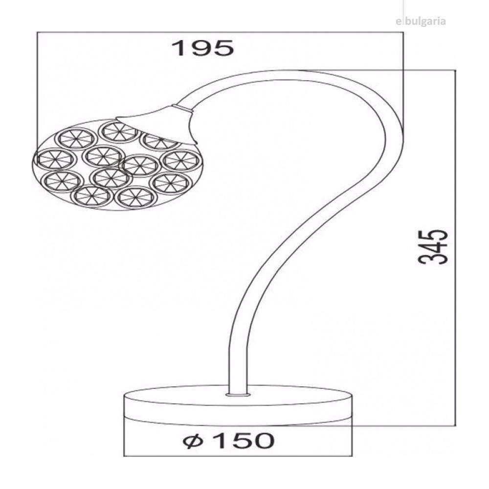 настолна лампа skylar, chrome, aca lighting, 1xG9, ad2012001t