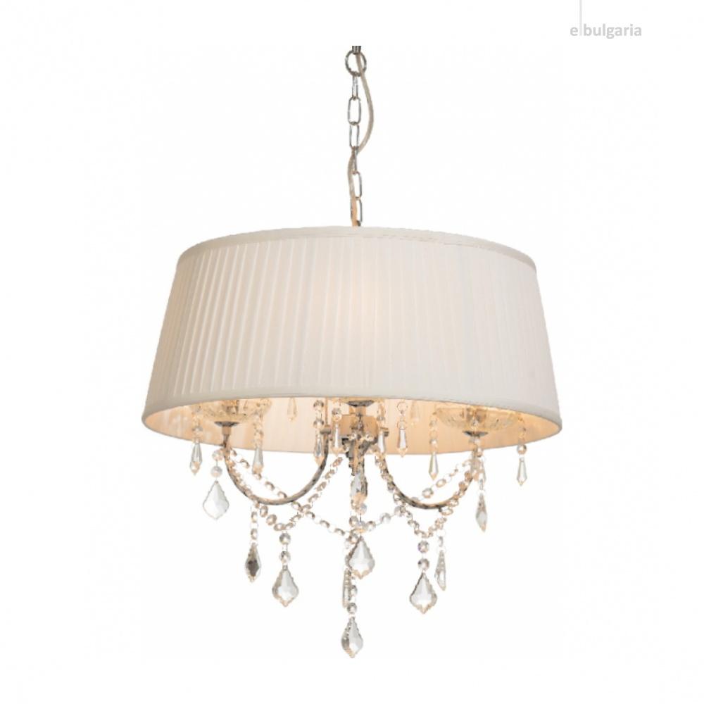 полилей penelope, chrome+white+clear, aca lighting, 3xE14, fmd968303