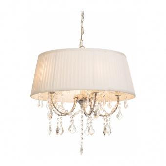 полилей penelope, chrome+white+clear, aca lighting, 5xE14, fmd968305