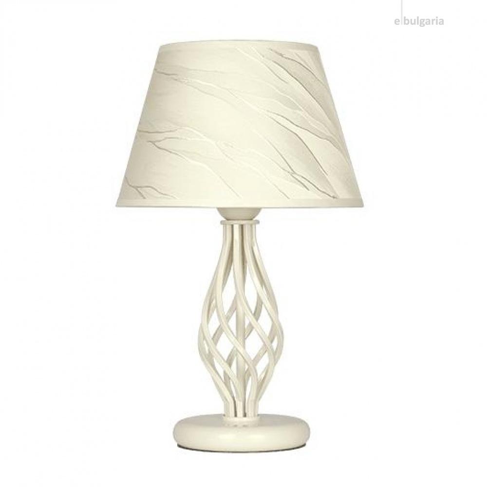 настолна лампа атлас, крем, sirius lights, 1xe27, 305690