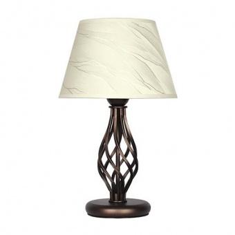 настолна лампа атлас, патина, sirius lights, 1xe27, 309690