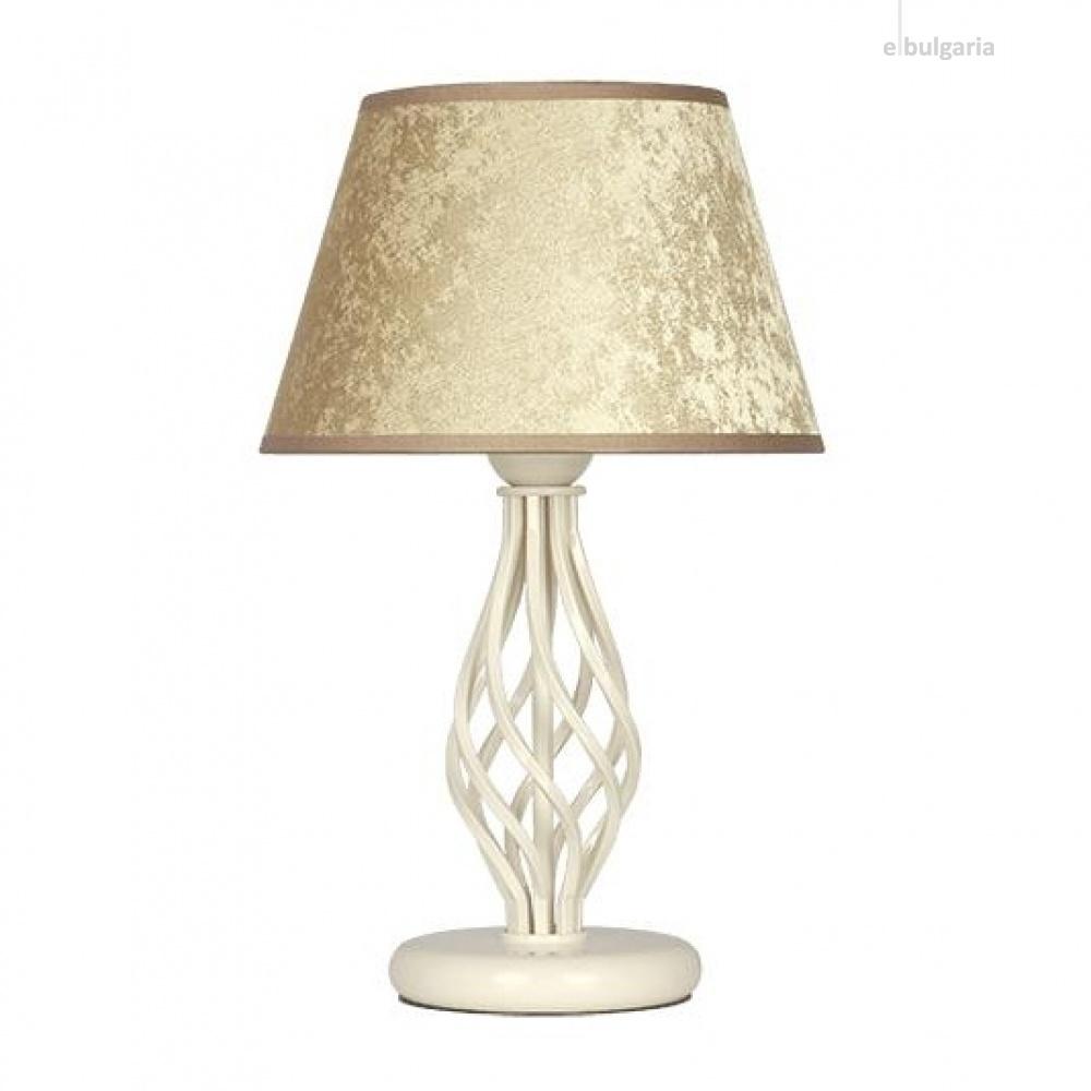 настолна лампа атлас, галата бронз/крем, sirius lights, 1xe27, 305541