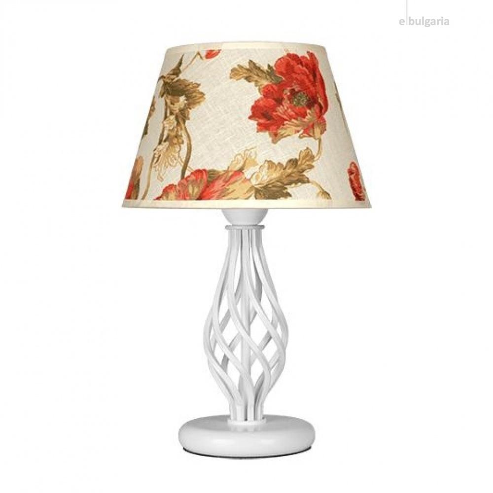 настолна лампа атлас, бял, sirius lights, 1xe27, 304420