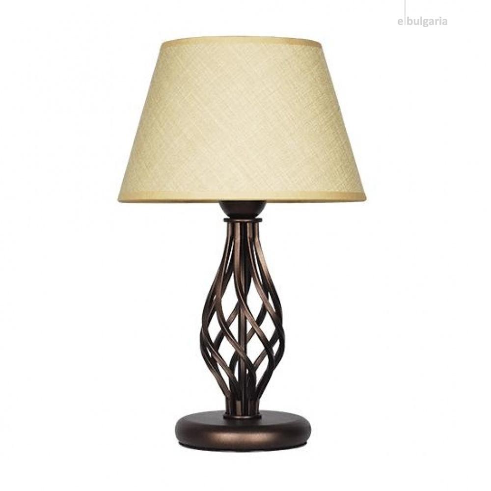 настолна лампа атлас, екрю, sirius lights, 1xe27, 309451
