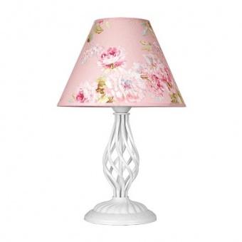 настолна лампа брунате, бял, sirius lights, 1xe27, 256531