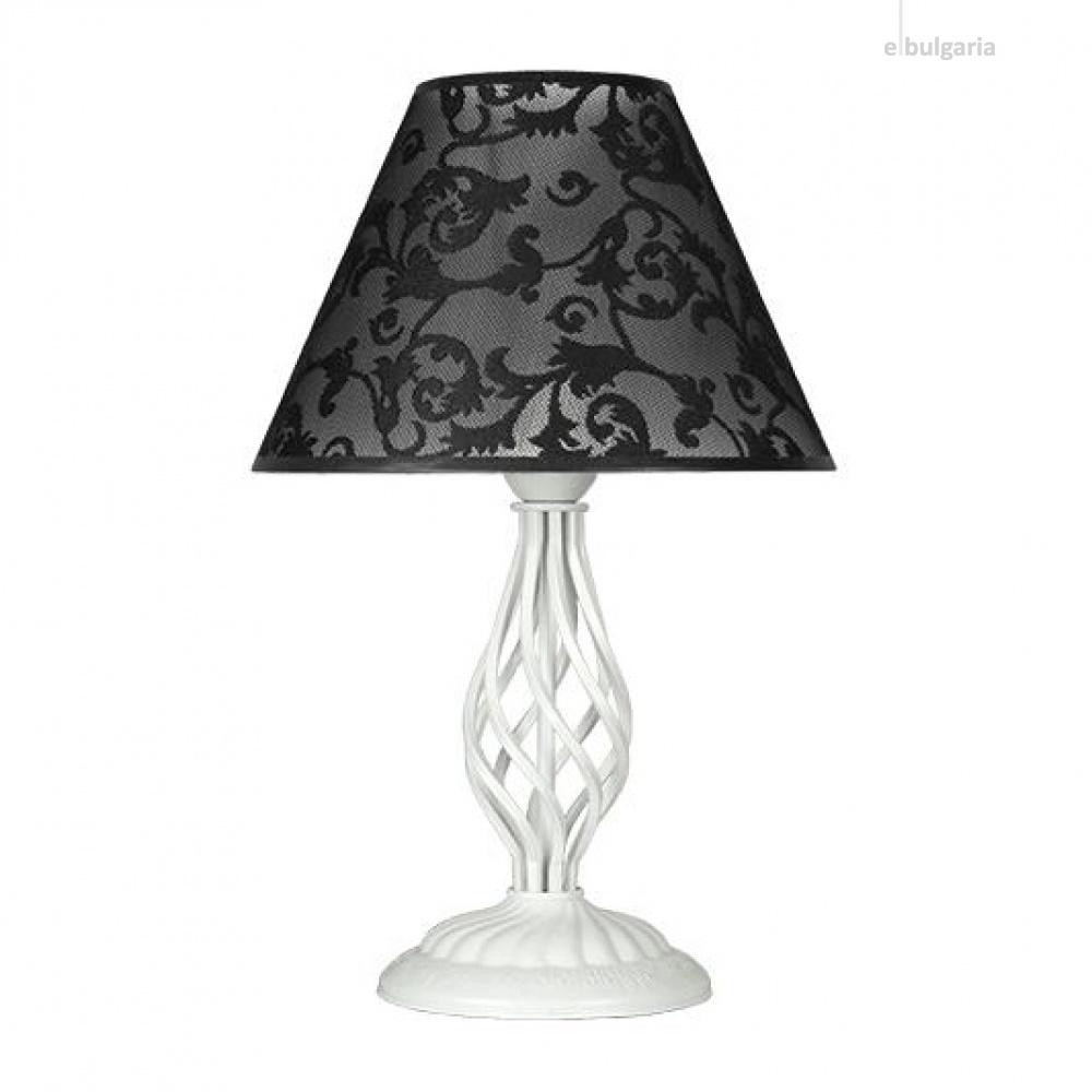 настолна лампа брунате, черен/бял, sirius lights, 1xe27, 256631