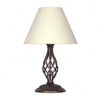 настолна лампа брунате, крем/кафяв, sirius lights, 1xe27, 257131