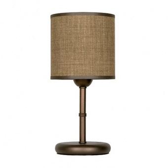настолна лампа метропол, кафяв, siriuslights, 1хе27, 329452