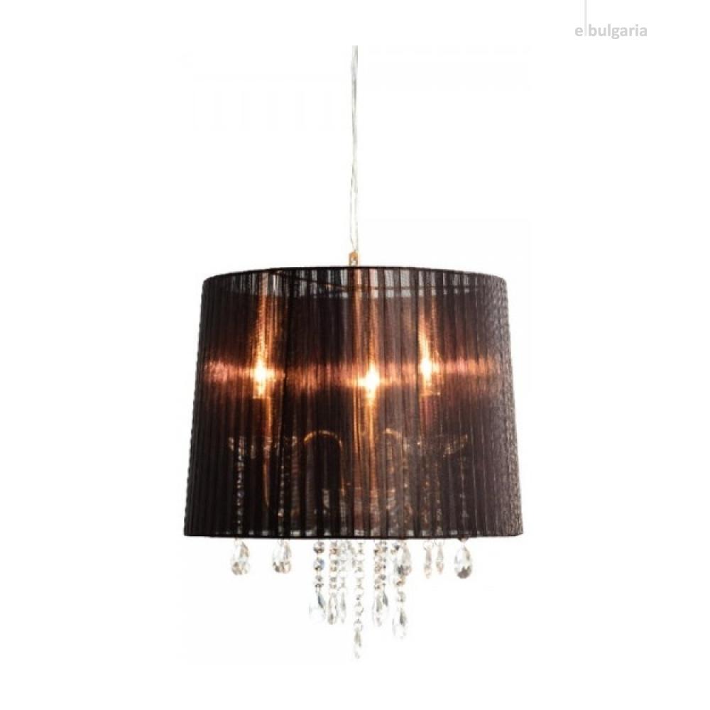 полилей alice, satin nickel+black+clear, aca lighting, 3xE14, 1p400bk