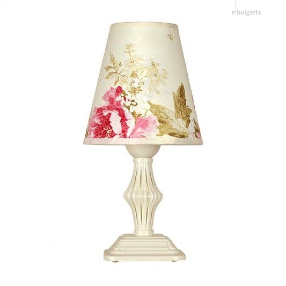 настолна лампа ашли, крем, siriuslights, 1хе27, 335360