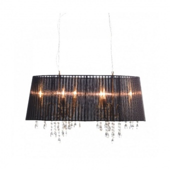 полилей alice, satin nickel+black+clear, aca lighting, 6xE14, 2p800bk