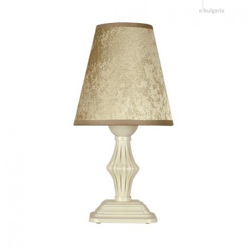 настолна лампа ашли, бронз/крем, siriuslights, 1хе27, 335541