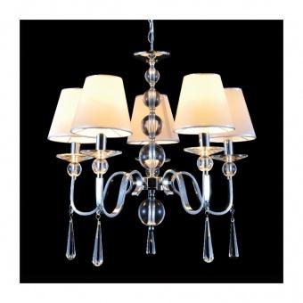 полилей evita, chrome+pearl silver+clear, aca lighting, 5xE14, ad90045d