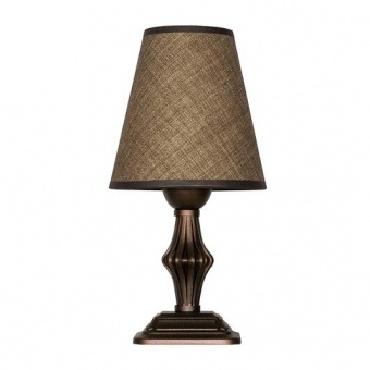 настолна лампа ашли, кафяв, siriuslights, 1хе27, 339452