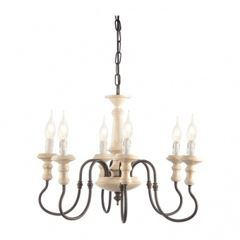 полилей toulouse, sand rust+antique white, aca lighting, 6xE14, eg176p60r