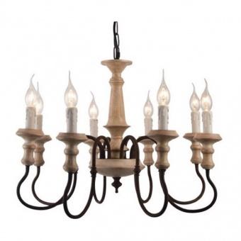 полилей toulouse, sand rust+antique white, aca lighting, 8xE14, eg178p60r