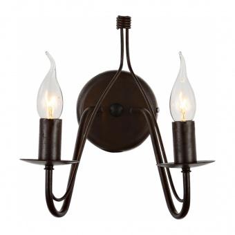 аплик palmyra, brown+black, aca lighting, 2xE14, dla0012w