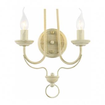 аплик palmyra, white patine, aca lighting, 2xE14, dla0432w