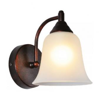 аплик moby, black-copper+sandblast, aca lighting, 1xE27, ad80081w