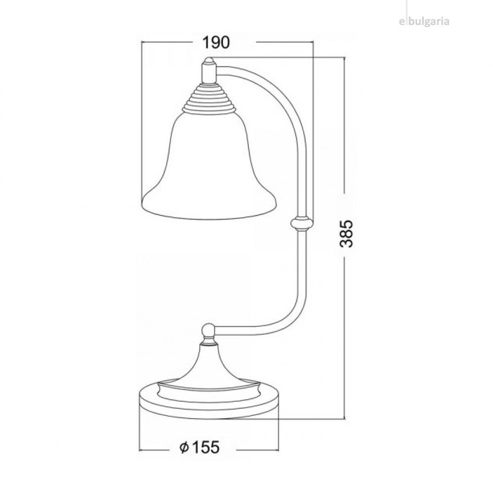 настолна лампа moby, black-copper+sandblast, aca lighting, 1xE27, ad80081t