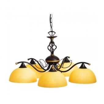 полилей electra, dark brown+antique gold+honey, aca lighting, 5xE27, ad89065b