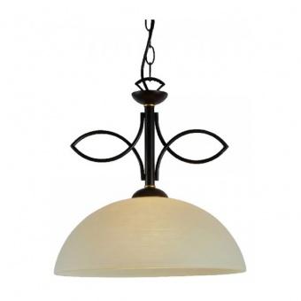 пендел electra, dark brown+antique gold+honey, aca lighting, 1xE27, ad89061