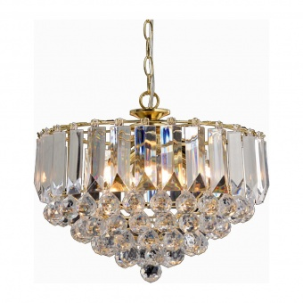 полилей grappa, polished brass+clear, aca lighting, 3xE14, sf175323pg