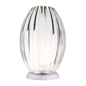 настолна лампа homo, clear+chrome, aca lighting, 1xE14, sf8574