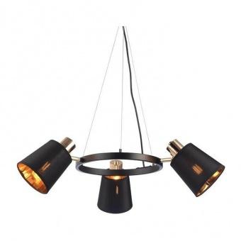 полилей norma, black+gold, aca lighting, 3xE14, eg213p63bk