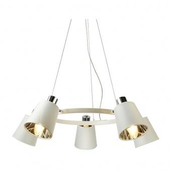 полилей norma, white+chrome, aca lighting, 5xE14, eg215p73wh