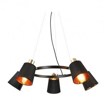 полилей norma, black+gold, aca lighting, 5xE14, eg215p73bk