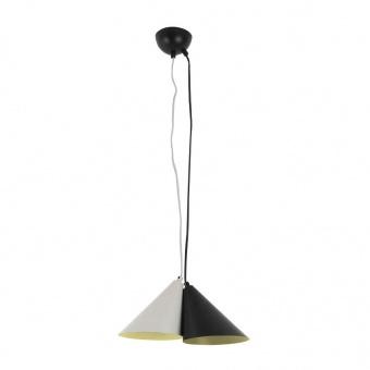 полилей dioscuri, matt black+matt grey, aca lighting, 2xE14, ef23p233bg