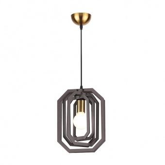 пендел triton, dark brown leather+satin brass, aca lighting, 1xE27, zm391p24wdl
