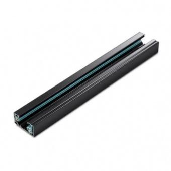 монофазна трак шина за външен монтаж, черен, aca lighting, 1m, 2W1MB