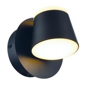 аплик lucido, sand black+white, aca lighting, led 8w, 3000k, 640lm, v83ledw13bk