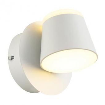аплик lucido, sand white+white, aca lighting, led 8w, 3000k, 640lm, v83ledw13wh