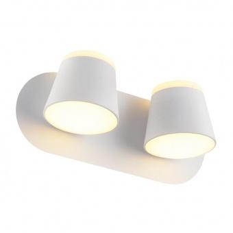 аплик lucido, sand white+white, aca lighting, led 16w, 3000k, 1280lm, v83ledw27wh