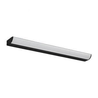 аплик за баня klara, matt black+white, aca lighting, led 12w, 3000k, 780lm, pn29ledw57bk