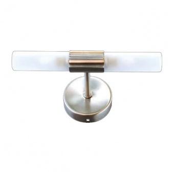 аплик за баня sueva, nickel+sandblast, aca lighting, 2xG9, sueva4