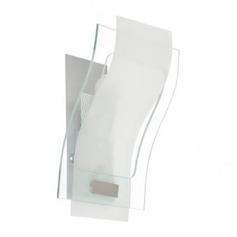 аплик elipso, nickel-silver paint+clear-sandblast, aca lighting, 1xE27, elipsomb0008