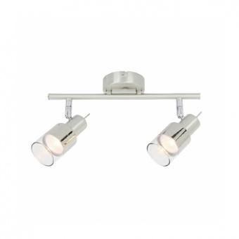 спот platinum, chrome+clear-chrome, aca lighting, 2xGU10, mc6562