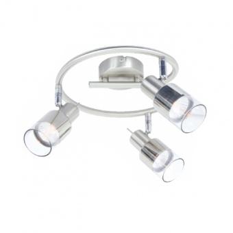 спот platinum, chrome+clear-chrome, aca lighting, 3xGU10, mc6563g